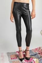 Black Faux-leather Pants