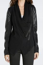 Black Draped Jacket