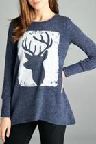 Printed Deer Top