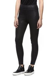 Coated Faux-leather Legging