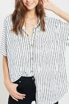 Stripe Buttondown Knit