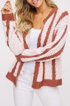 Chunky Striped Cardigan