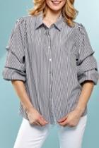 Stripe Ruched Shirt