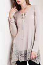 Lace-crochet Ruffle Top