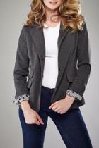 Grey Ponte Jacket
