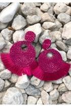 Round Beaded Earrings