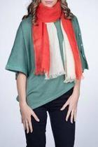Linen Scarf Red