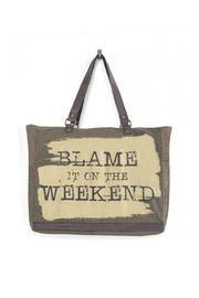 Blame Weekend Large Tote