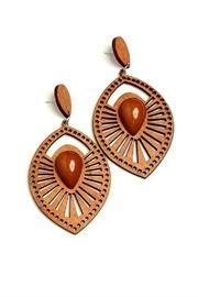 Geo Leaf Earrings
