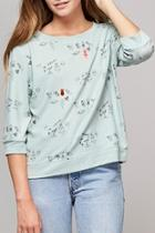 Mint Green Doodle Sweater