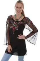 Sheer Embroidered Blouse