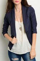 Navy Denim Blazer
