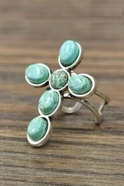 Natural Turquoise-stone Ring