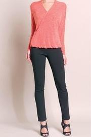 Coral Vneck Sweater