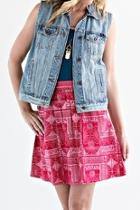 Red Print Skirt