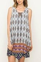 Vneck Tassel Dress
