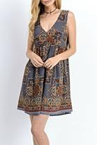 Paisley Jumper Dress