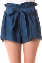 Denim Paperbag Tie Shorts