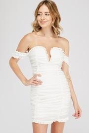 Off-the-shoulder Ruched Dress