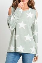 Open-shoulder Star Top