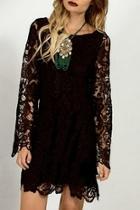 Lace Crochet Shift-dress