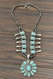 Squash-blossom Turquoise-stone Necklace