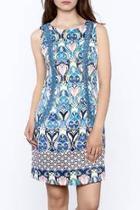 Elegant Blue Sheath Dress
