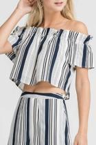 Striped Set Top