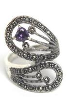 Sterling-silver Amethyst Ring