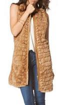 Faux Fur Panel Coat