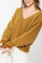 Vneck Cropped Sweater