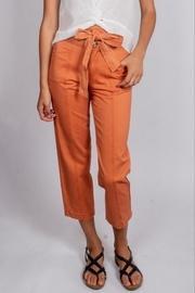 Orange Chic-summer-denim Tie-waist-pants