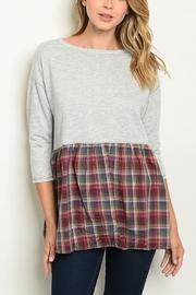 Plaid Block Top
