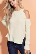 Cold Shoulder Sweater-top