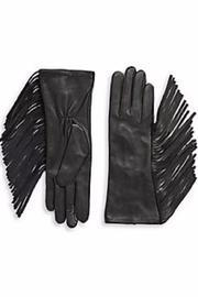 Side-fringe Leather Gloves