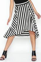 Striped Hi Low Skirt