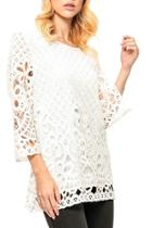 Laced Crochet Top