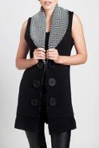 Knit Collar Vest