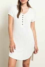 Henley Waffleknit Tunic/dress
