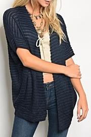 Shortsleeve Navy Cardigan