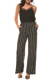 Wide Leg Striped Pull-on Pant W Pockets