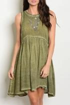 Olive Mineral Dress