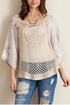 Solid Crochet Top