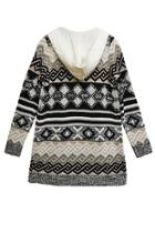Print Hooded Cardigan