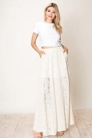 Lace And Crochet A-line Maxi Skirt