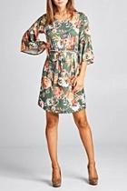 Floral Bellsleeve Dress