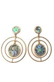 Intricate-circular Abalone Earrings