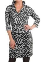 Ruffle Neck Arabesque Dress