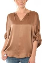 Vneck Silk Blouse