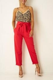 Red High-waist Trousers